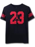 LL543 ジュニア ジョーダン Tシャツ Jordan Youth T-Shirt キッズ ユース トップス 黒赤 【メール便対応】