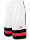 SK451 ジュニア ジョーダン バスケットボールショーツ Jordan Youth Shorts キッズ ユース バスパン 白黒インフラレッド【ドライフィット】 【メール便対応】