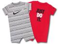 BY211 べビー ナイキ ロンパース 2枚セット Nike JDI Infant Rompers ベビー服 赤ちゃん 灰赤黒 【メール便対応】
