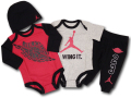BH618 べビージョーダン Jordan Wings 4 Piece Infant Set ロンパース 4点セット 赤灰黒 【箱付き】