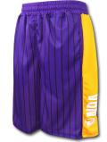 BN721 メンズ NBA ロゴマン バスケットボールショーツ Logo Shorts バスパン 紫黄色白
