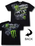 KO460 メンズ モンスターエナジー ナスカーカップ・シリーズ Tシャツ Monster Energy NASCAR Cap Series カーレース モータースポーツ 黒緑 【メール便対応】
