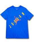 JT096 メンズ ジョーダン Tシャツ Jordan HBR Stretched T-Shirt 青黄色オレンジ 【メール便対応】