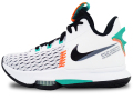 KS796 キッズ/ジュニア Nike LeBron Witness 5 (GS) ナイキ レブロン・ジェームズ バスケットシューズ バッシュ 白黒クリアジェイド【箱なし】