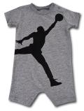 BT081 ベビー ジョーダン ロンパース Jordan Big Jumpman Logo Rompers ベビー服 赤ちゃん 灰黒 【メール便対応】
