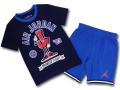 BP019 キッズ 子供用 ジョーダン Tシャツ&ハーフパンツ セットアップ Jordan Toddler Set 紺青インフラレッド 【メール便対応】