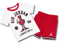 BP018 キッズ 子供用 ジョーダン Tシャツ&ハーフパンツ セットアップ Jordan Toddler Set 白赤黒 【メール便対応】