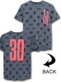 NK437 ジュニア アンダーアーマー ステフィン・カリー Tシャツ Under Armour Curry SC30 T-Shirt キッズ ユース トップス ダークグレーインフラレッド 【メール便対応】