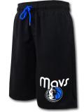 BN724 メンズ NBA ダラス・マーベリックス スウェットハーフパンツ UNK Dallas Mavericks Fleece Shorts アンク マブス 黒青