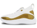 WA729 【SALE・わけあり】 キッズ/ジュニア Under Armour GS Curry 8 Golden アンダーアーマー ステフィン・カリー バスケットシューズ バッシュ 白メタリックゴールド 23cm