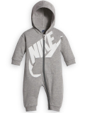 BT419 ベビー Nike Futura Infant Coverall ナイキ フード付き カバーオール 灰白 【メール便対応】