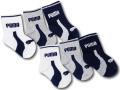 BA640 ベビー プーマ ソックス 6足セット Puma Socks ベビー服 赤ちゃん 靴下 白灰紺 【メール便対応】