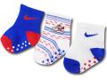 BA645 ベビー ナイキ ソックス 3足セット Nike Grippy Socks ベビー服 赤ちゃん 靴下 青白赤 【メール便対応】