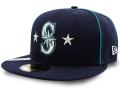 FB470 ニューエラ MLB メジャーリーグ シアトル・マリナーズ キャップ New Era MLB Seattle Mariners Cap ベースボール  帽子 紺メタリックシルバー