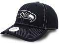 FB471 NFL シアトル・シーホークス アジャスタブルキャップ Seattle Seahawks Adjustable Cap アメフト 帽子 黒白