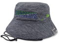 FB474 ニューエラ NFL シアトル・シーホークス バケットハット New Era Seattle Seahawks Bucket Hat アメフト 帽子  ダークグレー黄緑