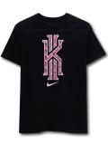 NK438 ジュニア ナイキ カイリー・アービング Tシャツ Nike Kyrie Irving T-Shirt キッズ ユース トップス 黒ネオンピンクメタリックシルバー 【メール便対応】