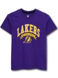 NK440 ジュニア NBA ロサンゼルス・レイカーズ Tシャツ UNK Los Angeles Lakers アンク キッズ ユース トップス 紫黄色 【メール便対応】