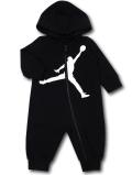 BT082 ベビー ジョーダン フード付き カバーオール Jordan Jumpman Coverall ベビー服 赤ちゃん 黒白 【メール便対応】