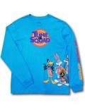 "KO462 メンズ ルーニー・テューンズ スペースジャム ロングスリーブTシャツ Looney Tunes ""Space Jam"" A New Legacy 長袖 オリオンブルー 【メール便対応】"