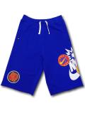 PK133 ジュニア ナイキ スウェットハーフパンツ Nike Fleece Shorts キッズ ユース 青白【ルーズフィット】
