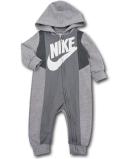 BY218 ベビー ナイキ フード付き カバーオール Nike Infant Coverall ベビー服 赤ちゃん 灰白 【メール便対応】