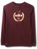 NK442 ジュニア ナイキ レブロン・ジェームズ ロングスリーブ Tシャツ Nike Lebron James Long Sleeve T-Shirt キッズ 長袖 ダークブラウンメタリックゴールド 【ドライフィット】 【メール便対応】