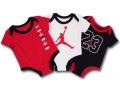 BT788 ベビー ジョーダン ロンパース 3枚セット Jordan Rompers 赤ちゃん ベビー服 赤白黒 【メール便対応】