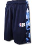 SK455 ジュニア NBA ロゴマン バスケットボールショーツ Logo Basketball Shorts キッズ ユース バスパン 紺水色 【メール便対応】