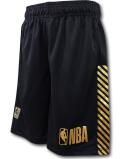 SK456 ジュニア NBA ロゴマン バスケットボールショーツ Logo Basketball Shorts キッズ ユース バスパン 黒メタリックゴールド 【メール便対応】
