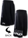 SK458 ジュニア アンダーアーマー バスケットボールショーツ Under Armour Shorts キッズ ユース バスパン 黒ダークグレー白 【メール便対応】