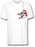 JT105 メンズ エアジョーダン Tシャツ Air Jordan AJ1 Shoe T-Shirt 白赤黒 【メール便対応】