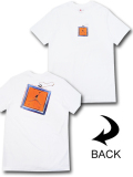 JT102 メンズ ジョーダン Tシャツ Jordan Keychain T-Shirt 白オレンジ 【メール便対応】