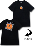 JT103 メンズ ジョーダン Tシャツ Jordan Keychain T-Shirt 黒オレンジ 【メール便対応】