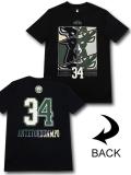NB569 メンズ NBA バックス ヤニス・アデトクンボ トレーニングTシャツ UNK Milwaukee Bucks Giannis Antetokounmpo アンク 黒モスグリーン  【メール便対応】