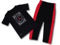 BP025 キッズ 子供用 ジョーダン トレーニングTシャツ&ロングパンツ セットアップ Jordan Toddler Set 黒赤白【ドライフィット】 【サーマフィット】 【メール便対応】