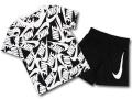 BP024 キッズ 子供用 ナイキ Tシャツ&ショーツ セットアップ Nike Toddler Set 黒白 【メール便対応】