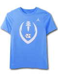 LL551 ジュニア ジョーダン NCAA ノースカロライナ大学 ターヒールズ トレーニングTシャツ Jordan North Carolina Tar Heels キッズ トップス 水色白【ドライフィット】 【メール便対応】
