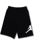 PK135 ジュニア ジョーダン スウェットハーフパンツ Jordan Fleece Shorts キッズ ユース 黒白