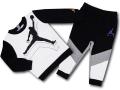 BT085 ベビー ジョーダン トレーナー&パンツ スウェットセットアップ Jordan Infant Set ベビー服 子供用 白黒灰