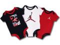 BT798 【メール便対応】 ベビー Jordan ジョーダン ロンパース 3枚セット 黒白赤