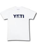 KO465 メンズ イエティ Tシャツ YETI T-Shirt アウトドア フィッシング 白紺 【メール便対応】