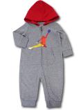 BT088 ベビー ジョーダン フード付き カバーオール Jordan DNA Coverall ベビー服 赤ちゃん 灰赤 【メール便対応】