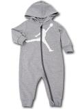 BT087 ベビー ジョーダン フード付き カバーオール Jordan Jumpman Coverall ベビー服 赤ちゃん 灰白 【メール便対応】