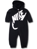 BT450 【メール便対応】 ベビー Nike Futura Infant Coverall ナイキ フード付き カバーオール 黒白