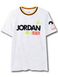 LL552 ジュニア ジョーダン Tシャツ Jordan Youth T-Shirt キッズ ユース トップス 白黒ネオングリーン 【メール便対応】