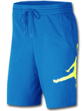 PJ886 メンズ ジョーダン スウェット ハーフパンツ Jordan Jumpman Air Fleece Shorts オリオンブルー黄色