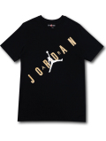 JT109 メンズ ジョーダン Tシャツ Jordan HBR Stretched T-Shirt 黒メタリックゴールド 【メール便対応】