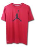 LL300 【メール便対応】 キッズ Jordan ジョーダン トレーニングシャツ 赤黒【ドライフィット】