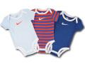 BY226 ベビー ナイキ ロンパース 3枚セット Nike Rompers Baby ベビー服 赤ちゃん 水色オレンジダークブルー 【メール便対応】